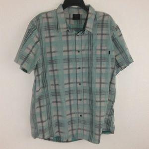 Oakley Short Sleeve Plaid Button Up Shirt